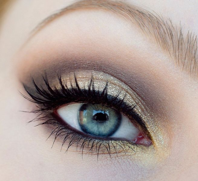 Макияж светло-голубых глаз