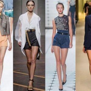 С чем носить шорты с высокой талией